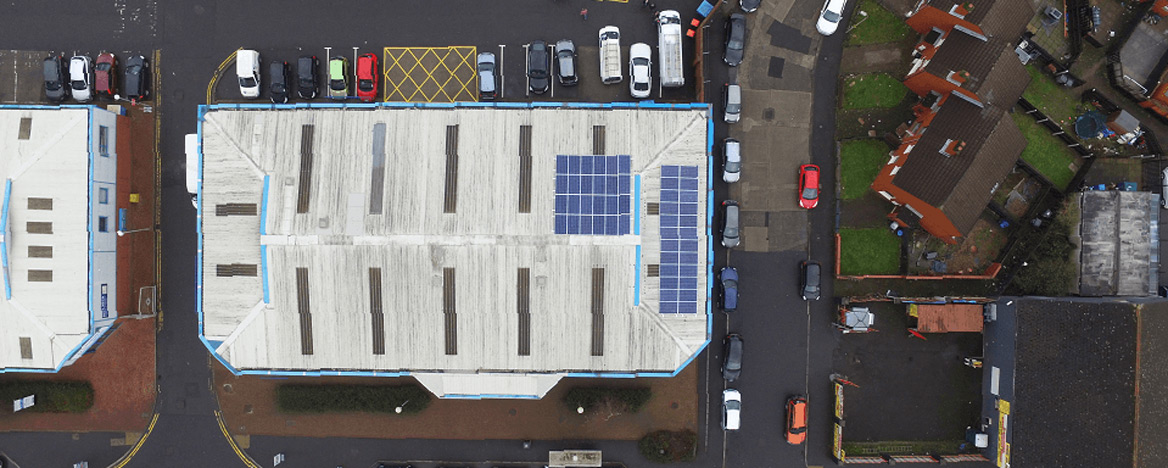 Flint Studios Goes AmberGreen with Solar Panel Installation.